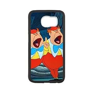 Samsung Galaxy S6 Phone Case White Alice in Wonderland Tweedledum and Tweedledee BU3041002