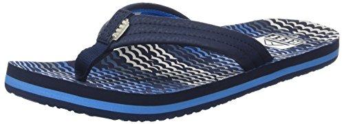 Reef Ahi Boys' Flip Flop (Toddler/Little Kid/Big Kid),Blue Horizon Waves,13/1 M US Little - Flops Flip Kids