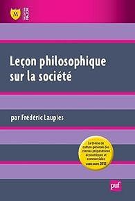 La société. Leçon philosophique par Frédéric Laupies
