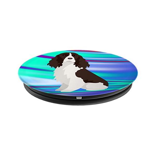 English Springer Spaniel Dog Pop Socket Phone Holder Blue 2