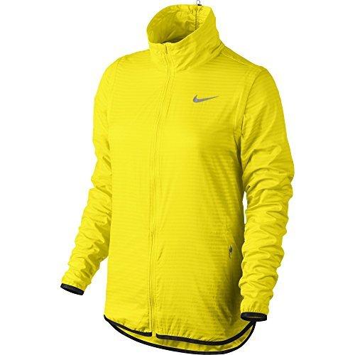 Nike Golf Women's Flight Convertible Jacket (Optic Yellow/Metallic Silver) (Medium)