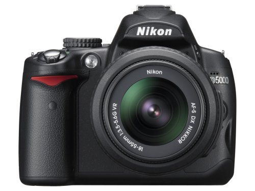 Nikon D5000 DSLR Camera with 18-55mm f/3.5-5.6G VR and 55-200mm f/4-5.6G VR Lenses (OLD MODEL)