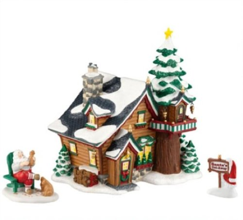 Department 56 North Pole Village 2011 Annual Holiday Set Santa's Get-Away (Set of 2) (Pole 56 Series North)