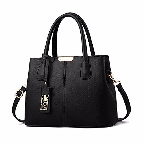 GQFGYYL Señoras de Moda Señoras Handbag, Atmósfera Señora Bolsa de Hombro,De Gules Black