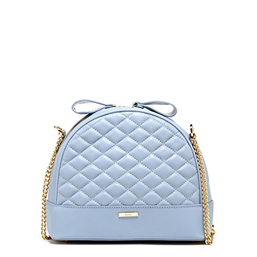 SUSU Baby Blue Leather Crossbody Bags for Women Quilted Lambskin Purses Cute Skyblue Purse Best Cross body Bags Women 's Sheepskin Designer Handbags Light Blue Classic it Bags Light Gold Chain Strap