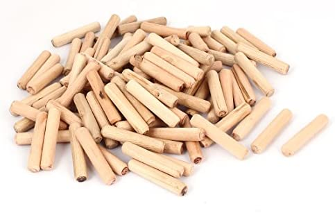 10MM x 50MM 50 Pieces BICB Fluted Wood Dowel Pin