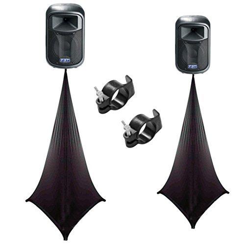 (2) Scrim King SS-SPK02B Black Double Sided Speaker - Scrim King Speaker Cover