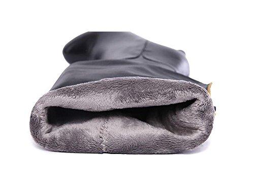 impermeabile rotonda inverno completo tacchi Martin ginocchio di sopra Leather 38 donna Genuine a Bootie Testa il stivali della spillo qXwdEdF