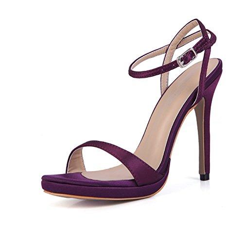 de ZHZNVX banquete de sexy mujer de con de seda nuevo zapatos mujer alto red verano los tacón de zapatos satén bodas Sandalias zapatos YwqrYAz