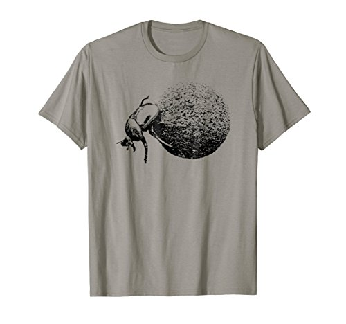 Dung Beetle Rolling Dung Ball T-Shirt for Beetle Fans