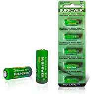 【5-Year Warranty】SURPOWER A23 23A 23AE 12v Alkaline Battery A23s -5 Pack
