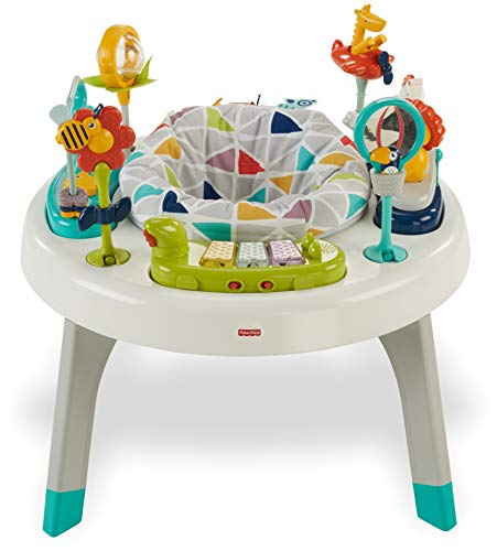 Fisher-Price 2-in-1 Sit-to-Stand Activity Center, Spin 'n Play Safari (Fisher Price Monkey Jumper)