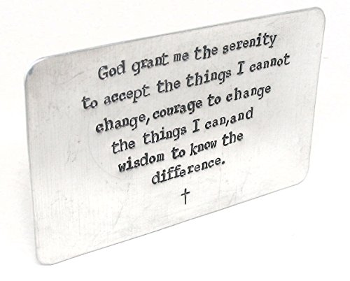 Hand Stamped Wallet Insert - Serenity Prayer, AA - Friendly Reminder, Card Sized]()