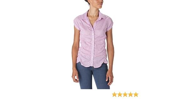 Rica Lewis - Camisa a Cuadros de Manga Corta para Mujer, Talla 36, Color Rosa: Amazon.es: Ropa y accesorios