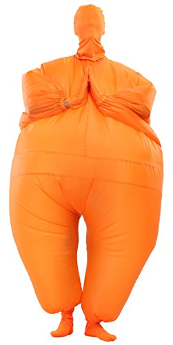 Olaf Full Body Costume (Perfect Corset Men's Inflatable Full Body Suit Adult Costume,Orange)