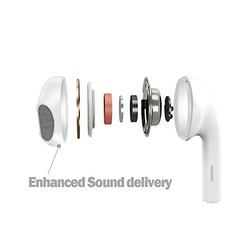 Winmore Phone Headphone Earbud Headset Earphones with Stereo Microphone Mic and Remote Control Compatible with Phone 6s 6 Plus 5s 5 5c SE(2 Pack-White) by Winmore (Image #4)