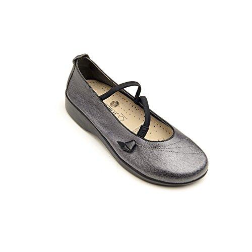 Arcopedico 6201 Vitoria Womens Mary Jane Flats, Pewter, Size - (Arcopedico Leather Mary Janes)