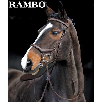 Rambo Micklem Competition Bridle w/ Reins- Black (Rambo Type)