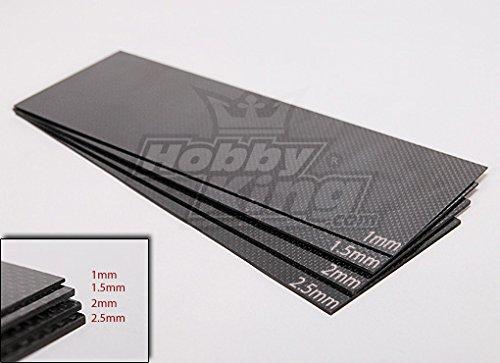 HobbyKing Woven Carbon Fiber Sheet 300x100 (1.0MM Thick)