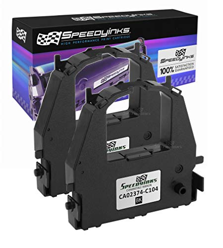 Speedy Inks Compatible Printer Ribbon Cartridge Replacement for Fujitsu CA02374-C104 (Black, 2-Pack)