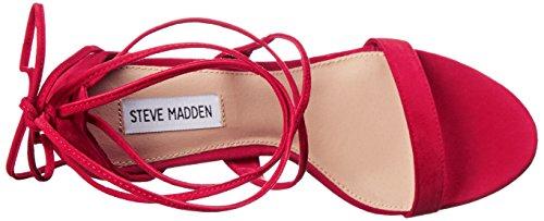 Steve Madden Presidnt - Sandalias de tacón Mujer Red