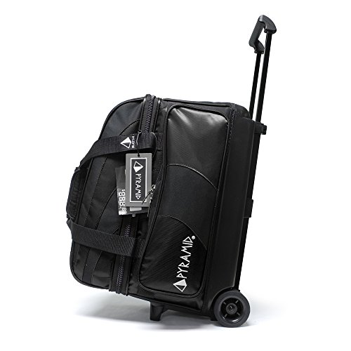 Pyramid Path Deluxe Double Roller Bowling Bag (Black/Black)