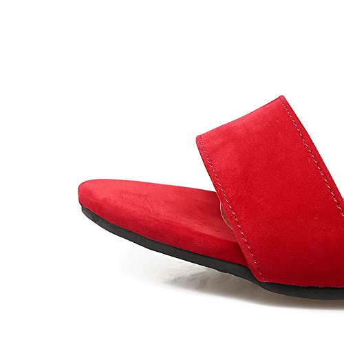 Uretano In Nabuk Asl04397 Sandals Womens Peep Sandali Rosso Balamasa toe X7nHqOwgp