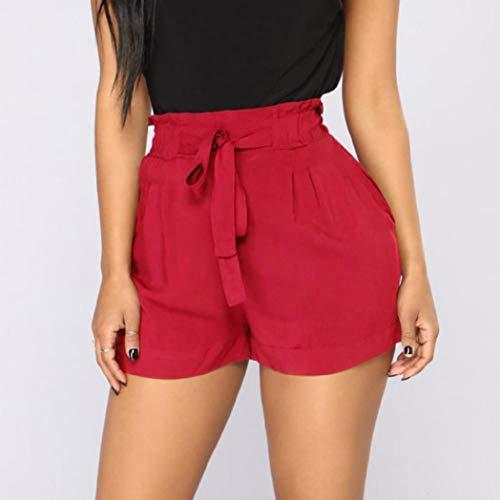 055b57030a30f Memela Palazzo Pants,Women Retro Casual Fit Elastic Waist Pocket Shorts  Pants High Waist String