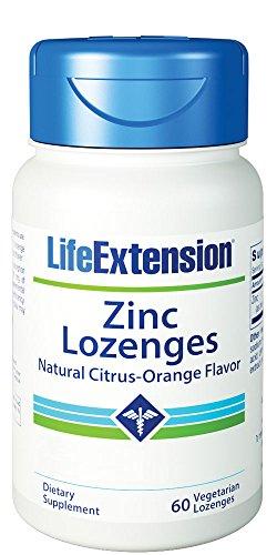 Life Extension Zinc Lozenges (Natural Citrus-Orange Flavor), 60 Vegetarian (Citrus Zinc Vitamins)