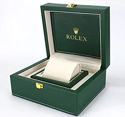 ROUHO PU Leather Box Green Watch Packaging Watch Box Watch Display Box For  Rolex