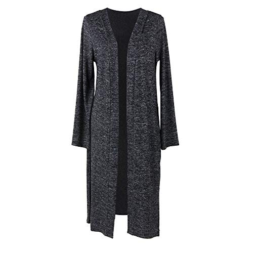 - Hello Mello Carefree Threads Women's Long-Sleeve Flowing Heather Knit Cardigan Black