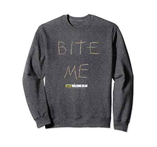 Unisex The Walking Dead Norman Reedus Bite Me Sweatshirt 2XL Dark Heather