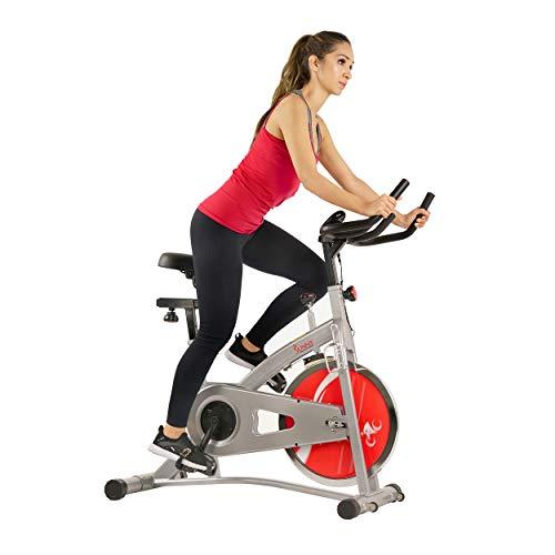 - Sunny Health & Fitness SF-B1421B Belt Drive Indoor Cycling Bike