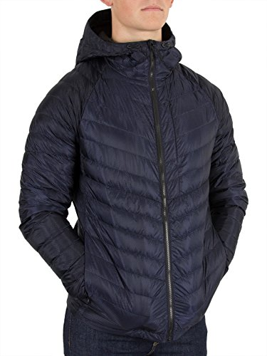 Dark Micro Quilt Superdry Hooded Down Jacket Navy Blue qvRFfnx
