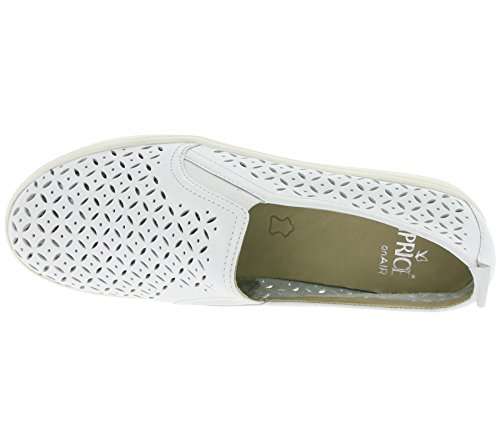 Caprice Slittamento Sulle Scarpe Delle Donne In Vera Pelle Scarpe Basse Pistone Bianco 9-24552-28 102 Bianco