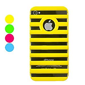 Candy Color Hollow-out Hard Case for iPhone 4/4S(Assorted Colors) --- COLOR:Black