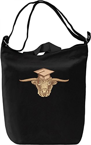 Bull Borsa Giornaliera Canvas Canvas Day Bag| 100% Premium Cotton Canvas| DTG Printing|