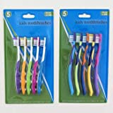 Toothbrush 5PC Kids 2AST Age Groups 2-6 & 6+ HBA Blister, Case Pack of 36