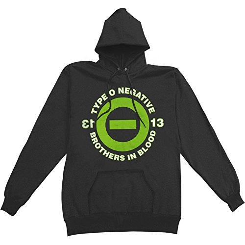 Type O Negative Men's Brothers In Blood Hooded Sweatshirt XX-Large Black