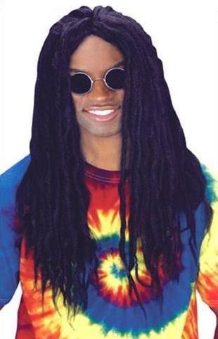Fun World Men's Rasta Dred Wig, black -