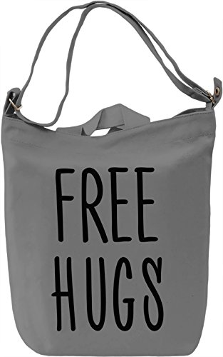 Free Hugs Borsa Giornaliera Canvas Canvas Day Bag| 100% Premium Cotton Canvas| DTG Printing|