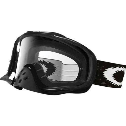 Oakley Crowbar MX Goggle Jet Black/Clear, One - Ski Goggles Best Oakley