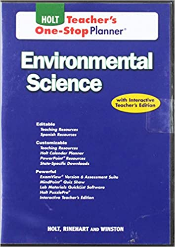 Holt Environmental Science Teacher S One Stop