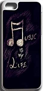 Dseason Iphone 5C Case,Fashion printing series,High quality hard plastic material music is my life