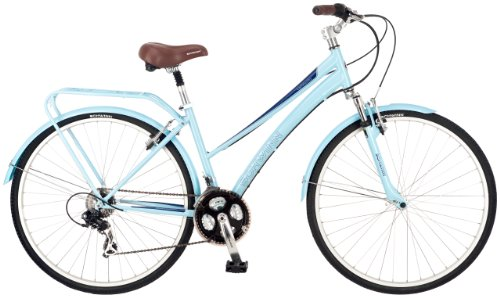 Schwinn Women's Community 700c Hybrid Bicycle, Light Blue, 16-Inch Frame