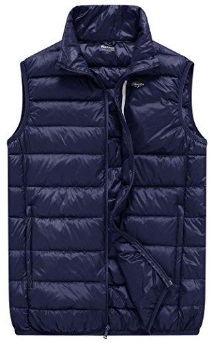 Wantdo Men's Packable Outdoor Ultra Light Heated Down Vest, Navy Blue, S by Wantdo