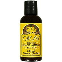 Okay 100% Pure Black Haitian Castor Oil, 4 oz (Pack of 4)