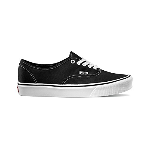 Vans Unisex Authentic Lite (Canvas) Black/White Skate Shoe 10 Men US/11.5 Women US (Black 10 Authentic Classic Vans)