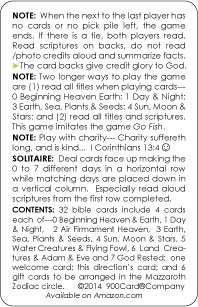 Creation Genesis 1 the Childrens Hour card game 900 Card Company