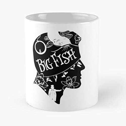 MIFUKO Movie Silhouette Big Tim Fish Burton La Mejor Taza de caf/é de cer/ámica de m/ármol Blanco de 11 oz